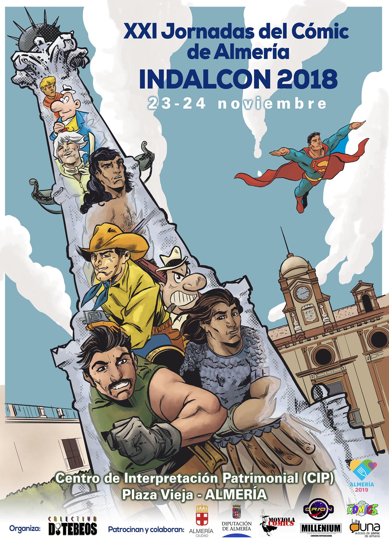Cartel Indalcon XXI - Jornadas del Cómic