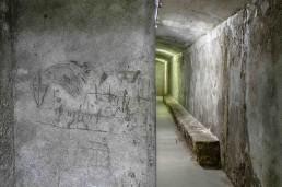 Refugios de la Guerra Civil - Dibujos en el muro