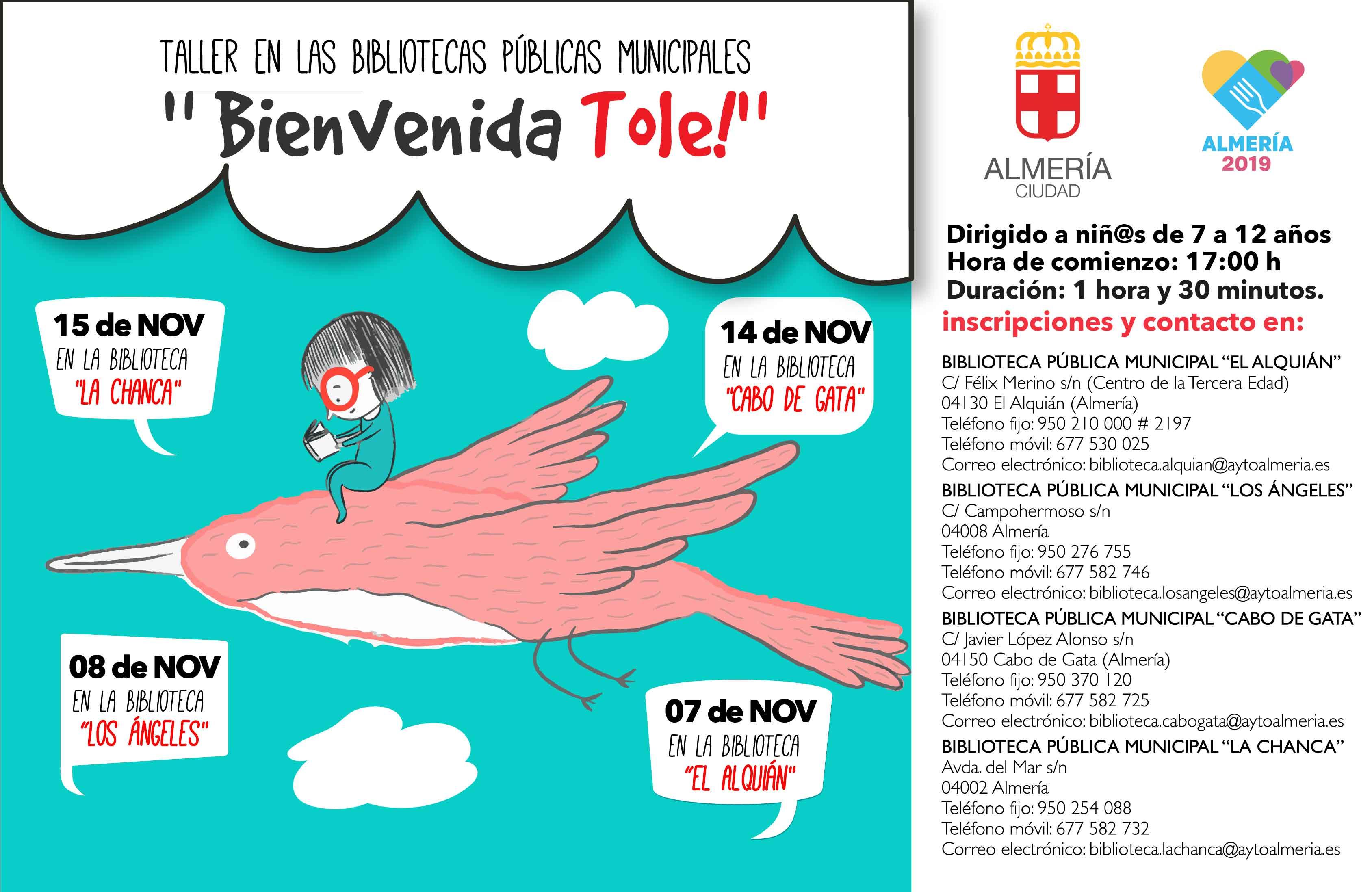 TALLERES 2018 OTOÑO - Cartel noviembre - Bibliotecas Municipales