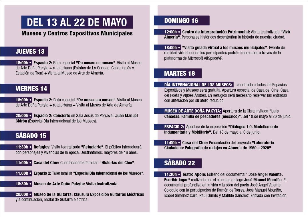 Programa Día museos Almería