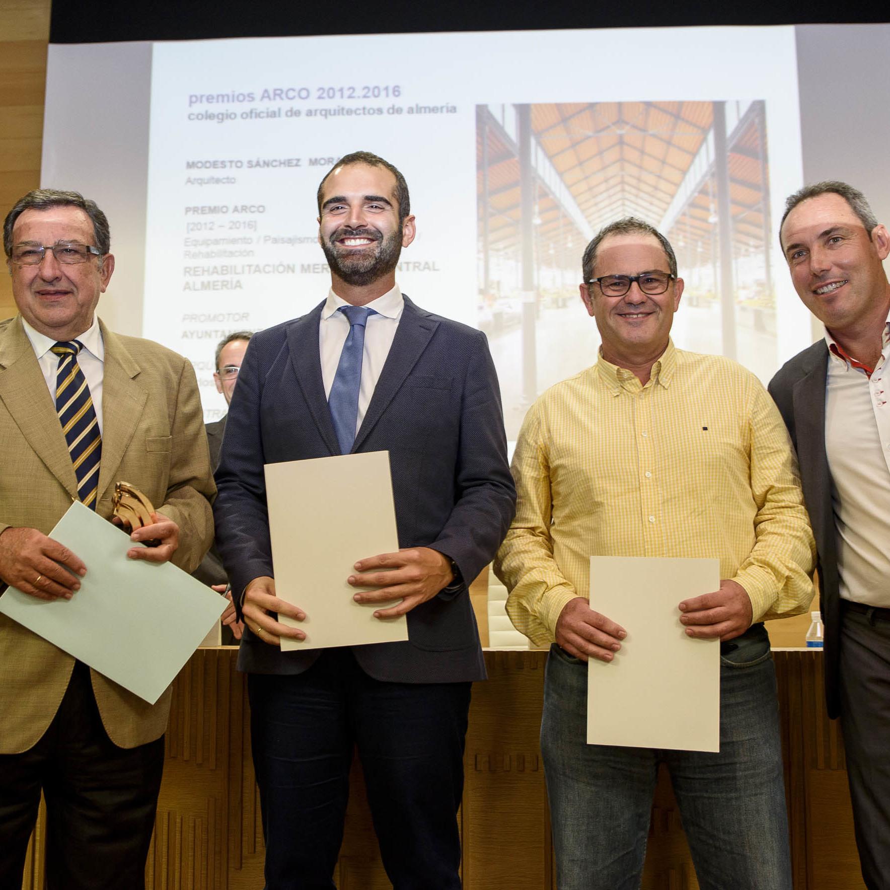 La rehabilitación del Mercado Central recibe el premio ARCO concedido por el Colegio de Arquitectos de Almería