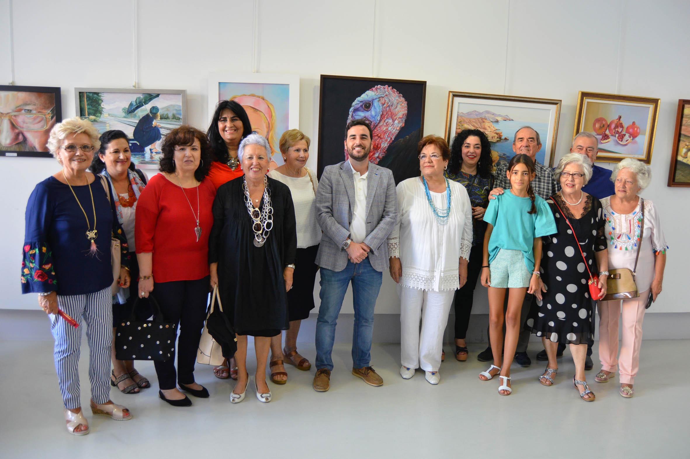 La Sala Jairán del CIP se abre a una exposición de los alumnos del taller de Mar Martínez
