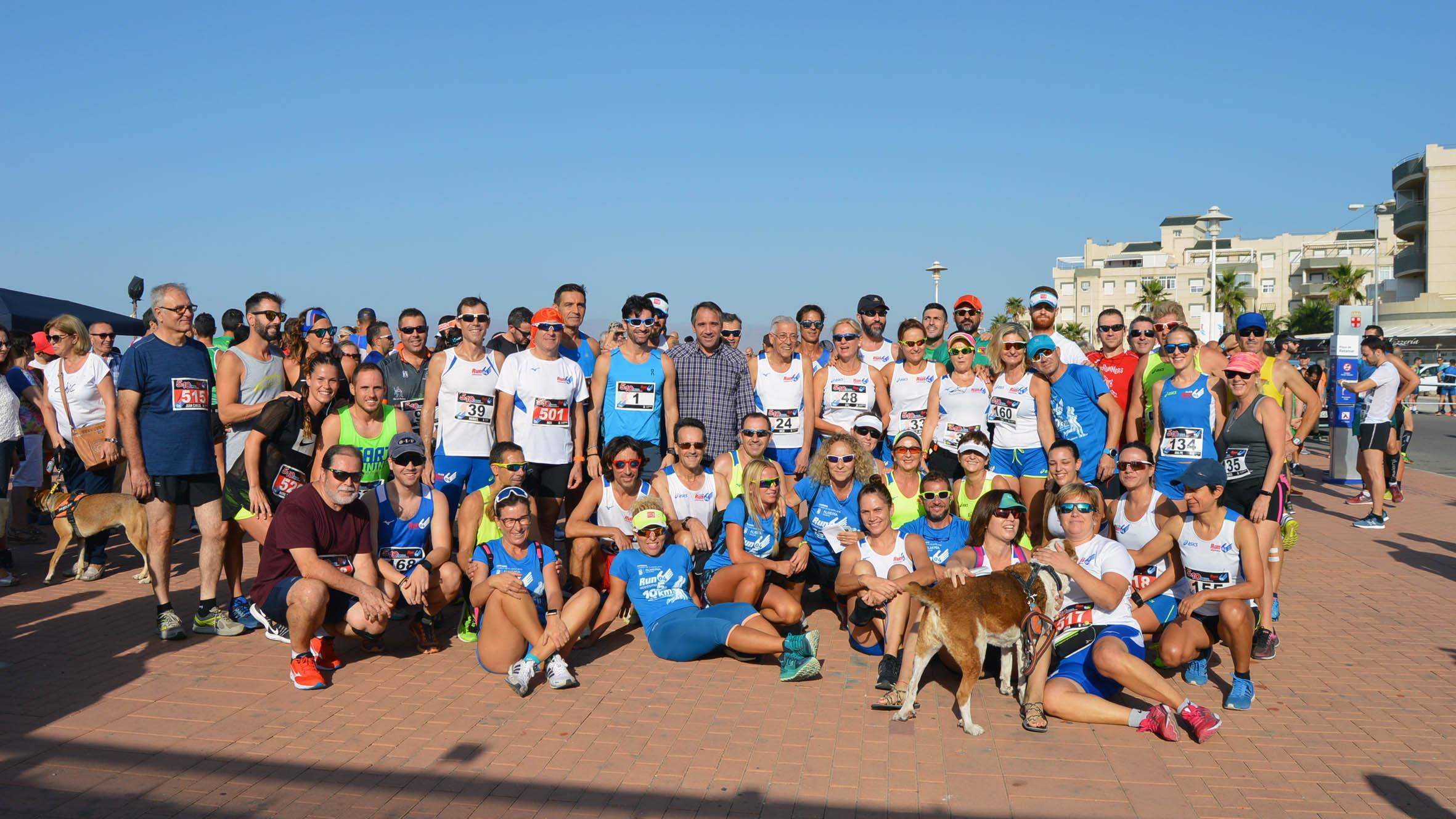 350 atletas participan en la 6ª Carrera Run 04 disputada en el parque Cabo de Gata