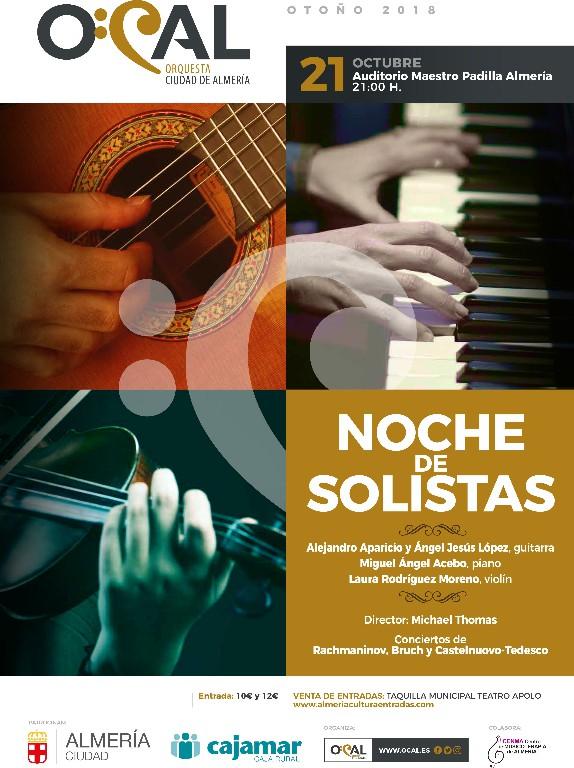 La OCAL alza el telón de su temporada de conciertos con 'Noche de Solistas', el domingo en el Maestro Padilla