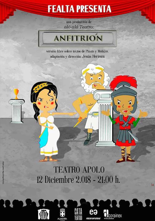 El Programa Estable de Teatro Aficionado cierra el año con 'Anfitrión', el miércoles en el Apolo