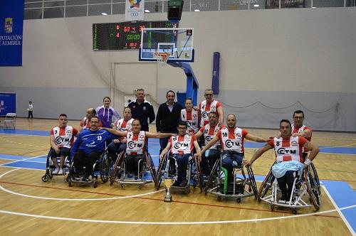 Cludemi comparte con el Ayuntamiento el segundo puesto en la Copa Andaluza de Baloncesto en Silla de Ruedas