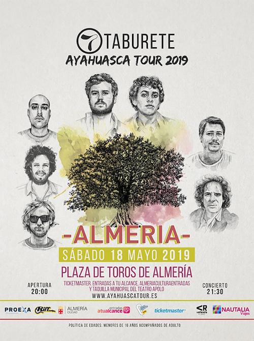 Taburete actuará por primera vez en Almería el 18 de mayo, dentro de su gira 'Ayahuasca Tour'