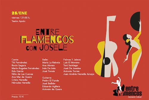 Más de 20 artistas del flamenco almeriense rinden homenaje a Josele el viernes en el Teatro Apolo