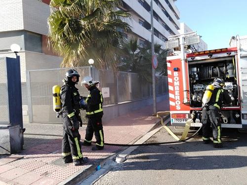 Bomberos evacuación incendio