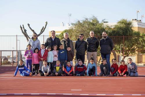 pistas deportivas del colegio 'Virgen del Mar'