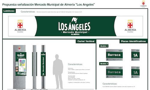 Señalización Mercado Los Ángeles