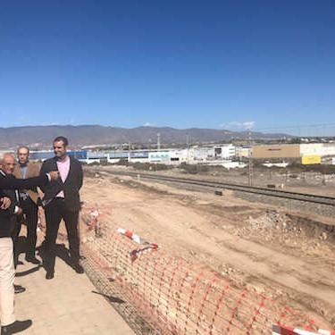 Obras soterramiento tren Almería