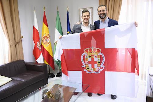 Alcalde con Mister Almería