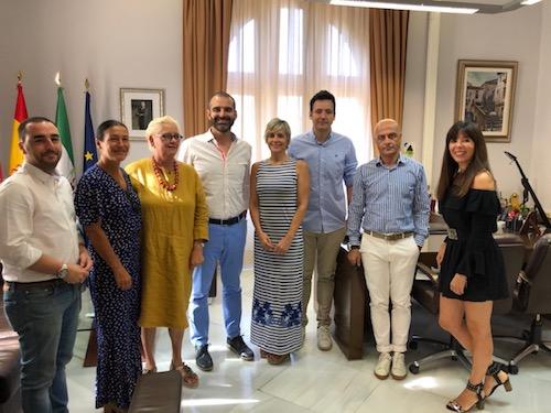 Alcalde reunión comercio Almería Centro