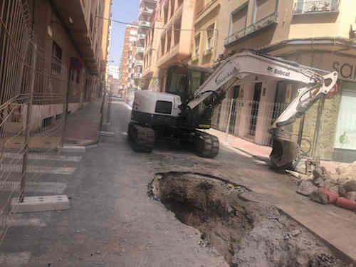 Obras calle San Leonardo