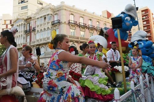 Batalla flores Feria Almería