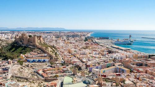 Almería turismo vista ciudad
