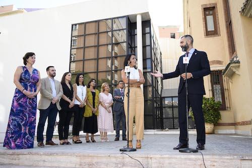 Alcalde Almería y Marta Bosquet