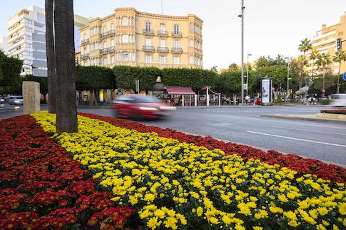 Almería bandera España flores