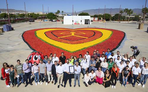 Record Guinness Corazón Almería