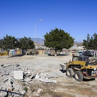 Almería Ayuntamiento parque almendros