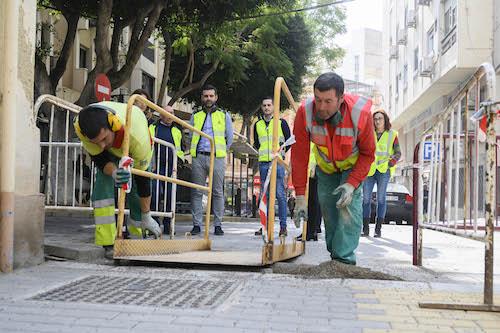 Obras calle Amapola Almería