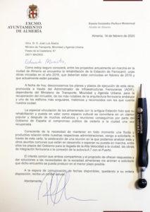 Carta Alcalde al Ministro