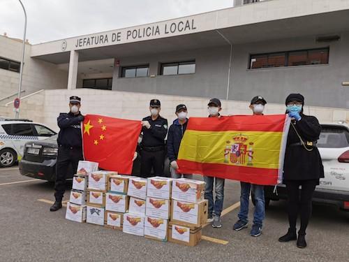 Donación china material Almería