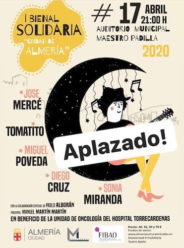 Cancelación concierto solidario Almería