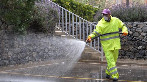 Almería coronavirus limpieza calles