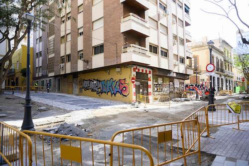 Obras calle Trajano Almería