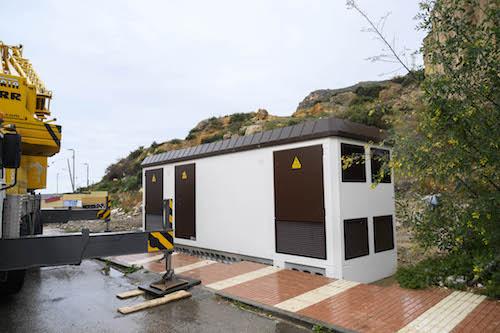 Almería Pescadería transformador eléctrico