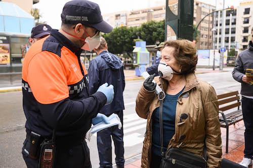 Almería reparto mascarillas coronavirus