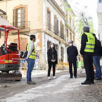 Almería obras Calle Trajano