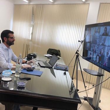 Alcalde Almería reuniones telemáticas