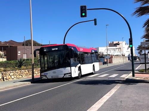 Autobús ruta Almería