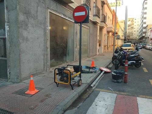 Señalización calle Almería