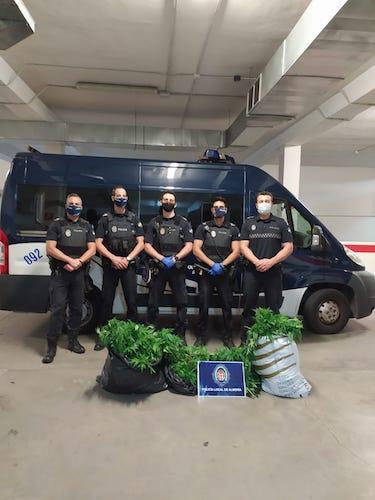 Policia local Almeria marihuana