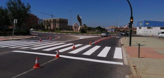 Almería señalización rotonda