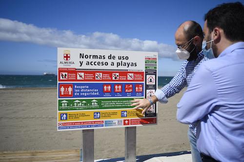 Almería señalización playas Covid19