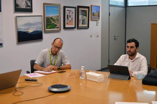 Ayuntamiento Almería reunión aeropuerto