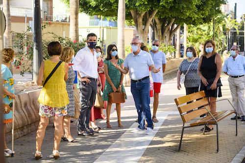 Visita alcalde barrio Regiones