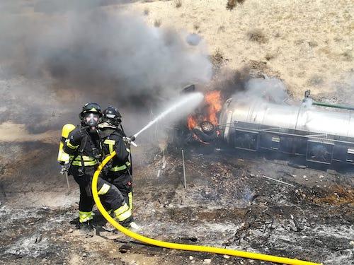 Actuación bomberos Almería