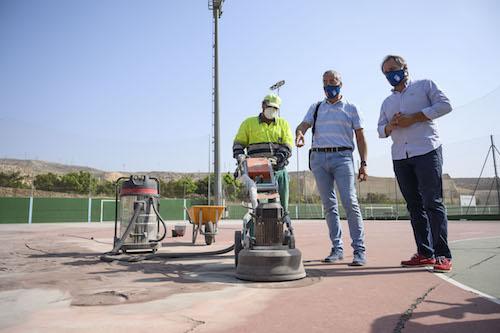 Almería obras complejo deportivo