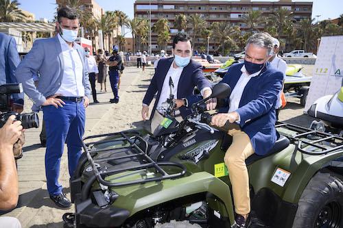 Almería material playas Andalucía