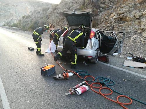 Almería intervención bomberos accidente