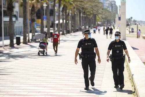 Policia local Almería playas