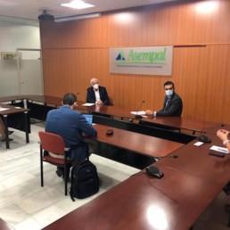 Alcalde Almería reunión Asempal