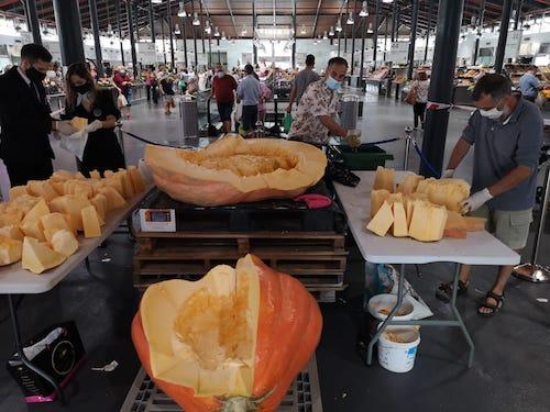 Almería mercado calabaza gigante
