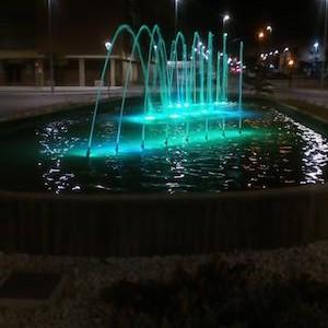 Almería iluminación fuentes
